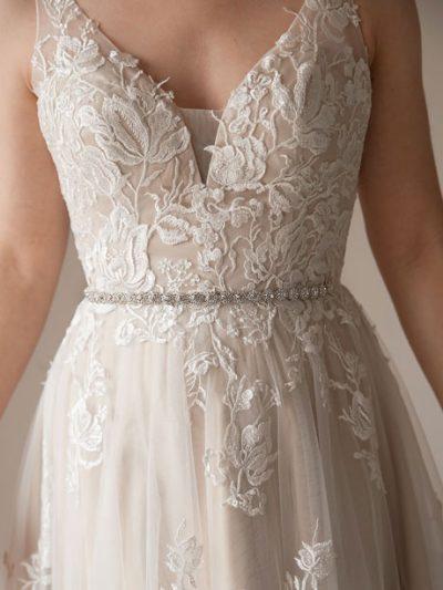 Bridal crystal wedding dress belts