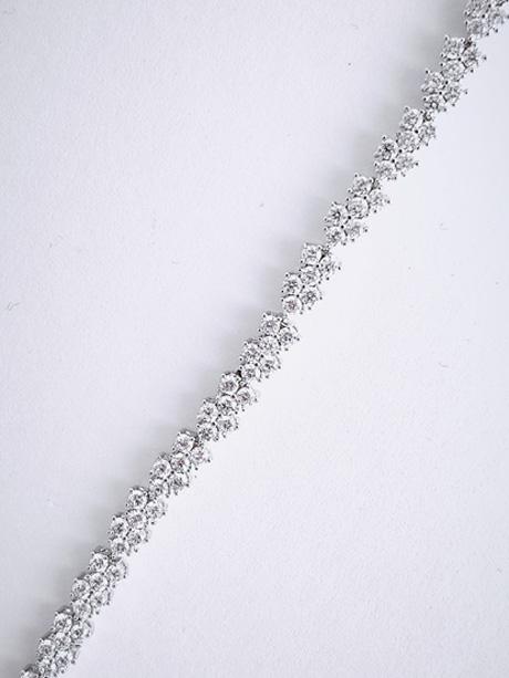 Tennis style delicate bracelets