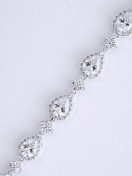 Silver sparkling bracelets