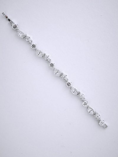 Silver evening bracelet