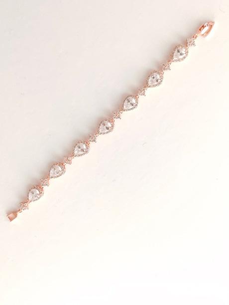 Aria rose gold wedding jewellery bracelet