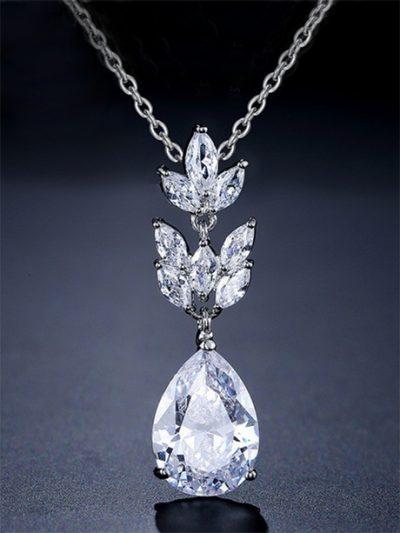 Single drop poppy wedding jewellery necklace