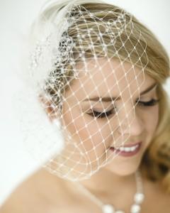 Birdcage wedding veil styles