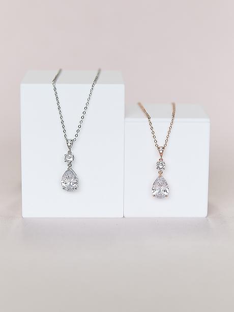 Teardrop shape pendants silver