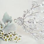 Attaching a wedding headband