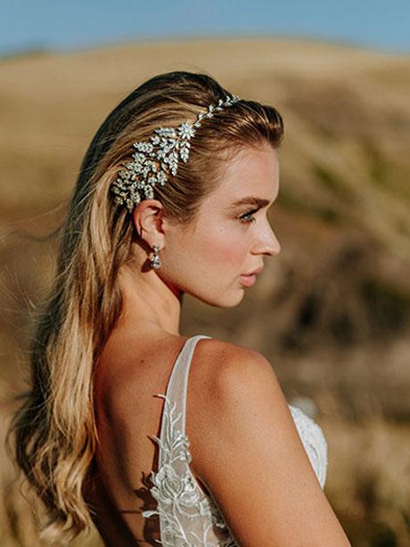Dora silver bridal headband