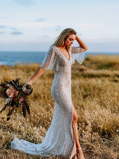 Amazing beaded wedding dress in Melbourne