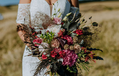 Mornington Peninsula wedding shoot flowers