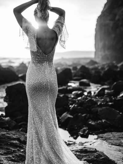 Jolie beaded wedding gown
