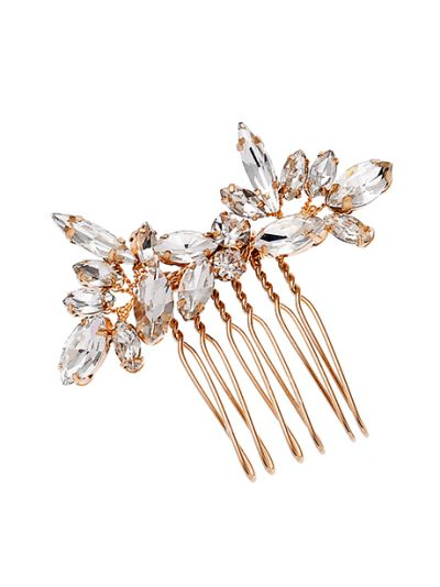 Rhinestone headpiece bridal comb