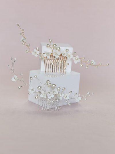 Wedding jewellery Spring hair comb