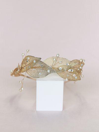 Grecian leaf headpiece bridal jewellery