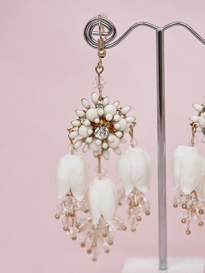 Detailed hanging earrings
