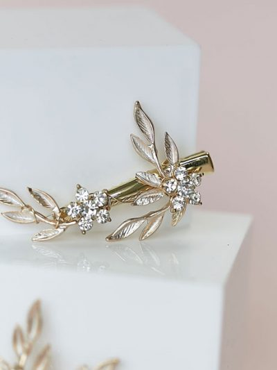 Pair of gold hair clips