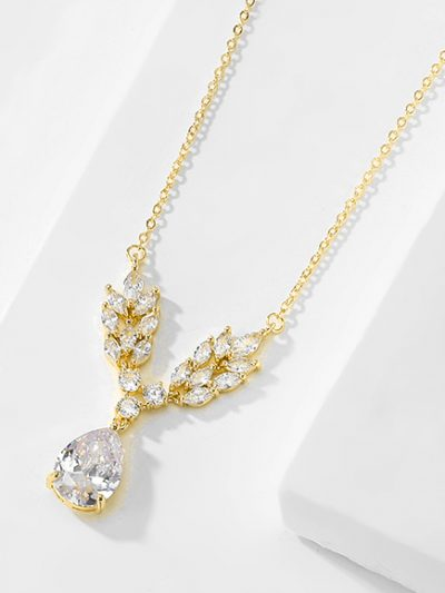 Gold leaf details jewellery