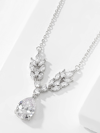 silver colour bridal necklaces