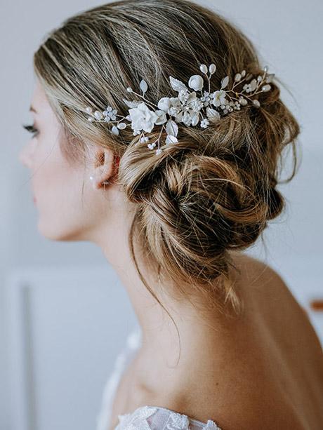 Wedding flower hair comb