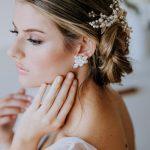 Natural pearl bridal earrings