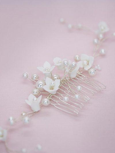 Spring bridal hair comb jewellery