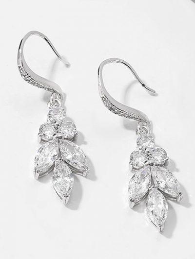 hook earrings in silver