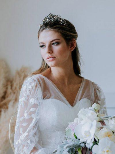 Black crown wedding jewelry