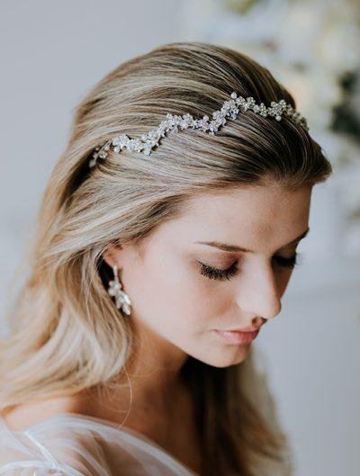 Simple headband for bride