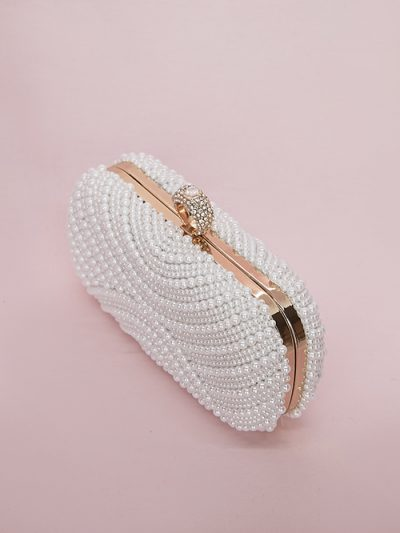 Pearl bridal purse